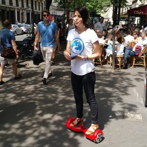 street marketing hoverboard