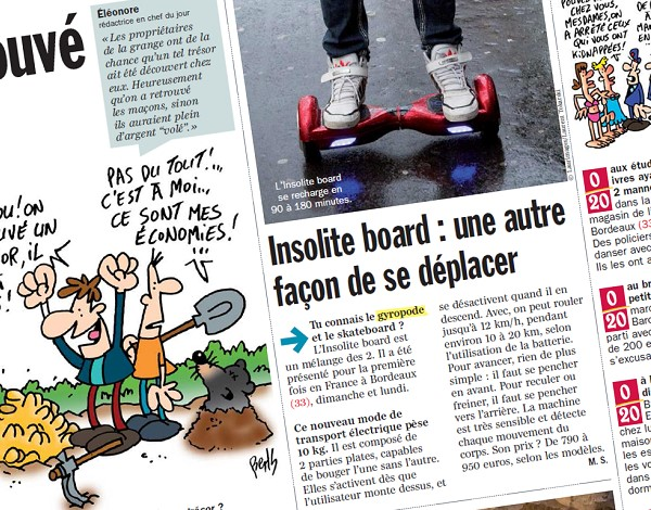 Insolites board: another way to get around