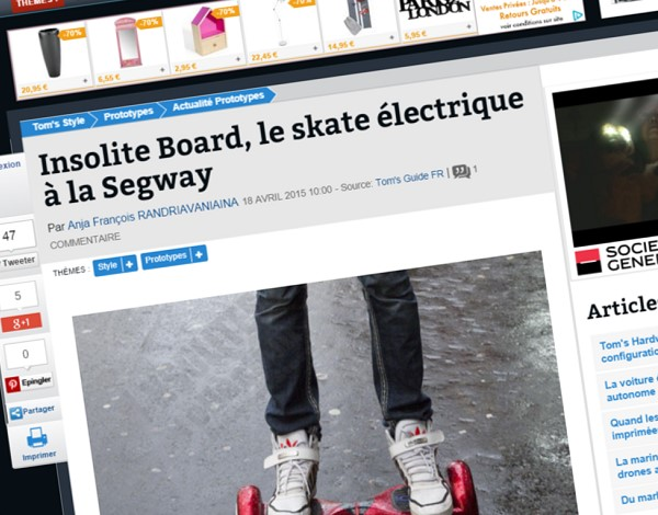 Insolites Board, the Segway-like electric skateboard