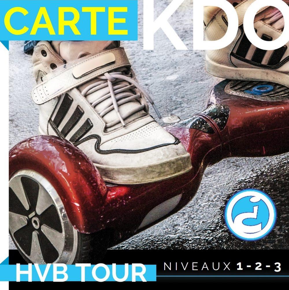 carte cadeau hoverboard tour niveau 1, 2 ou 3