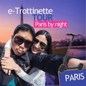 Trottinette électrique : paris by night