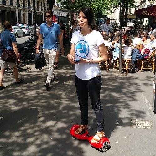 street marketing hoverboard