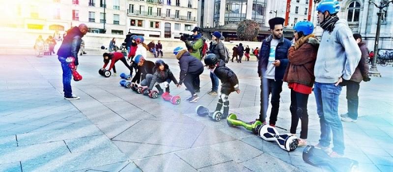 Une randonnée insolites en hoverboard à Paris